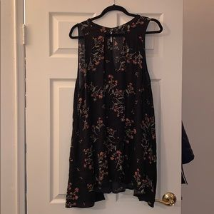 Free People Large Floral Tunic Top